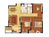 国贸仁皇15楼,三室二厅,毛坯,126.8万